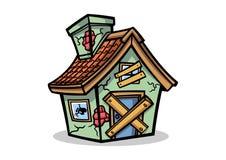Vector del diseño de la mascota de la casa del abandono stock de ilustración