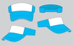 Vector del diseño de la visera: Blanco/amarillo ilustración del vector