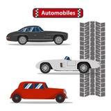 Vector del diseño de los coches de los automóviles Imagen de archivo libre de regalías