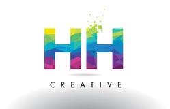 Vector del diseño de los triángulos de HH H H Colorful Letter Origami Imágenes de archivo libres de regalías