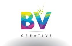 Vector del diseño de los triángulos de la papiroflexia de la BV B.V. Colorful Letter Foto de archivo libre de regalías