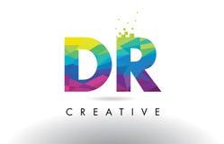 Vector del diseño de los triángulos del dr D R Colorful Letter Origami Fotos de archivo libres de regalías