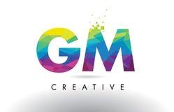 Vector del diseño de los triángulos del GM G M Colorful Letter Origami Fotos de archivo