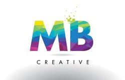 Vector del diseño de los triángulos del MB M B Colorful Letter Origami Fotos de archivo