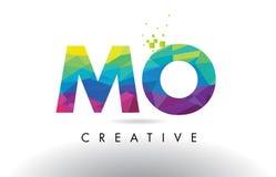 Vector del diseño de los triángulos del MES M O Colorful Letter Origami Foto de archivo libre de regalías