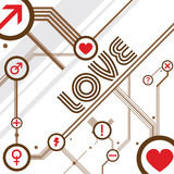 Vector del diseño del amor Imagen de archivo libre de regalías