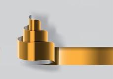 Vector del diseño del corte del papel del oro del árbol de navidad Fotos de archivo libres de regalías