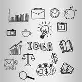 Vector del diseño del garabato del negocio de la idea libre illustration