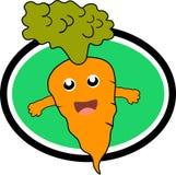 Vector del diseño del icono de la zanahoria Imagenes de archivo