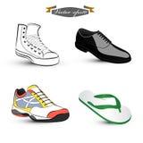 Vector del diseño gráfico del sistema de zapatos ilustración del vector