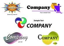 Vector del diseño de la escritura de la etiqueta de la compañía Imágenes de archivo libres de regalías