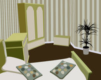Vector del dormitorio del niño ilustración del vector