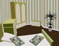 Vector del dormitorio del niño Imagenes de archivo
