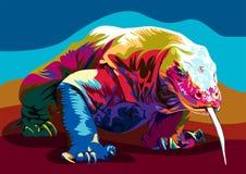 Vector del dragón de Comodo Imagen de archivo libre de regalías