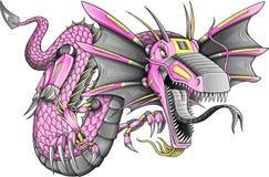 Vector del dragón del Cyborg del robot Fotos de archivo libres de regalías