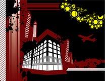 Vector del edificio de la ciudad Fotografía de archivo libre de regalías