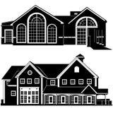 Vector del edificio de residencias   stock de ilustración