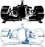 Vector del ejemplo del coche de carreras Imágenes de archivo libres de regalías