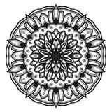 Vector del ejemplo de la flor de la mandala foto de archivo
