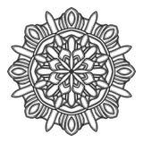 Vector del ejemplo de la flor de la mandala imágenes de archivo libres de regalías