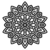 Vector del ejemplo de la flor de la mandala imagen de archivo libre de regalías