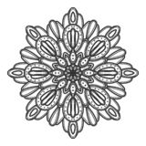Vector del ejemplo de la flor de la mandala imagenes de archivo