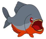 Vector del ejemplo de la piraña Pescados de la historieta ilustración del vector
