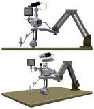Vector del ejemplo de la tabla del robot del dibujo Fotografía de archivo