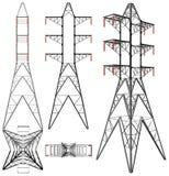 Vector del ejemplo de la torre de la electricidad de la transmisión Fotografía de archivo libre de regalías