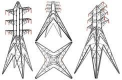 Vector del ejemplo de la torre de la electricidad de la transmisión Imágenes de archivo libres de regalías