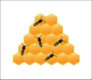 Vector del ejemplo de las abejas y del refugio de la miel Fotografía de archivo libre de regalías