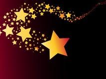 Vector del ejemplo del cometa de la estrella fugaz Fotos de archivo libres de regalías
