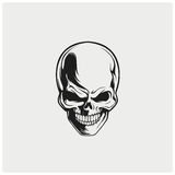 Vector del ejemplo del cráneo Fotos de archivo