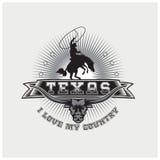 Vector del ejemplo del país de Tejas del logotipo stock de ilustración