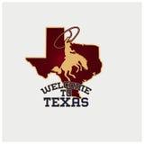 Vector del ejemplo del país de Tejas del logotipo Foto de archivo libre de regalías