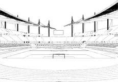 Vector del ejemplo del estadio de fútbol del fútbol Fotografía de archivo libre de regalías