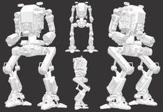Vector del ejemplo del robot del combate de la batalla Foto de archivo libre de regalías