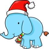 Vector del elefante de la Navidad Foto de archivo libre de regalías