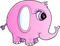 Vector del elefante rosado Imágenes de archivo libres de regalías