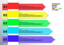 Vector del elemento de Infographic Fotos de archivo libres de regalías