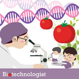 Vector del empleo del Biotechnologist Imagen de archivo libre de regalías