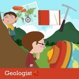 Vector del empleo del geólogo Fotos de archivo libres de regalías