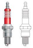 Vector del enchufe de chispa ilustración del vector