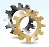 vector del engranaje 3d Foto de archivo libre de regalías