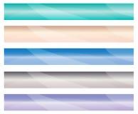 Bandera horizontal de la tela. Fácil cambiar tamaño. stock de ilustración