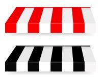 Sistema colorido de toldos rayados Imagen de archivo libre de regalías