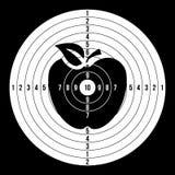 Vector del espacio en blanco de la blanco del deporte Objetivo redondo del tiroteo de papel clásico, ejemplo de la blanco libre illustration