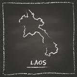 Vector del esquema de la república Democratic del ` s de Lao People ilustración del vector