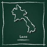 Vector del esquema de la república Democratic del ` s de Lao People libre illustration