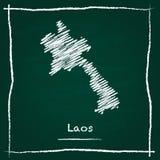 Vector del esquema de la república Democratic del ` s de Lao People stock de ilustración